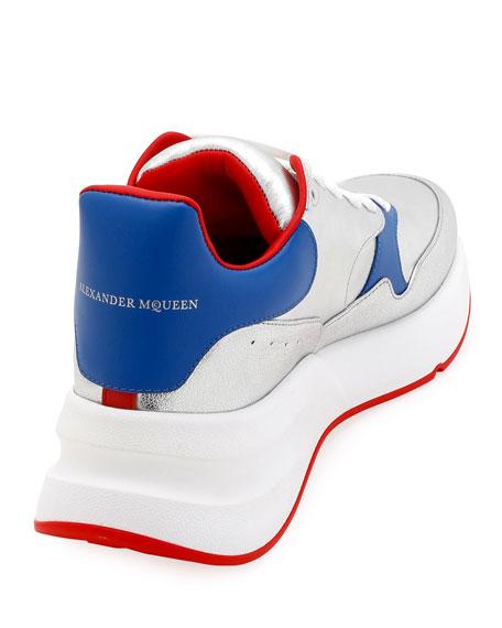 Alexander McQueen Men's Runner Sneaker in Lamb Leather