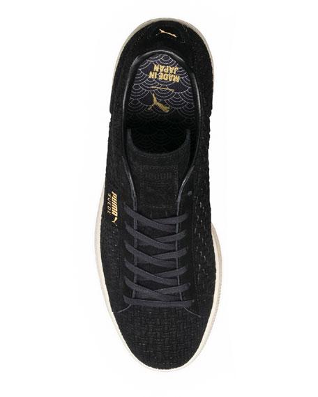 Puma Men's Woven-Textured Suede Low-Top Sneakers