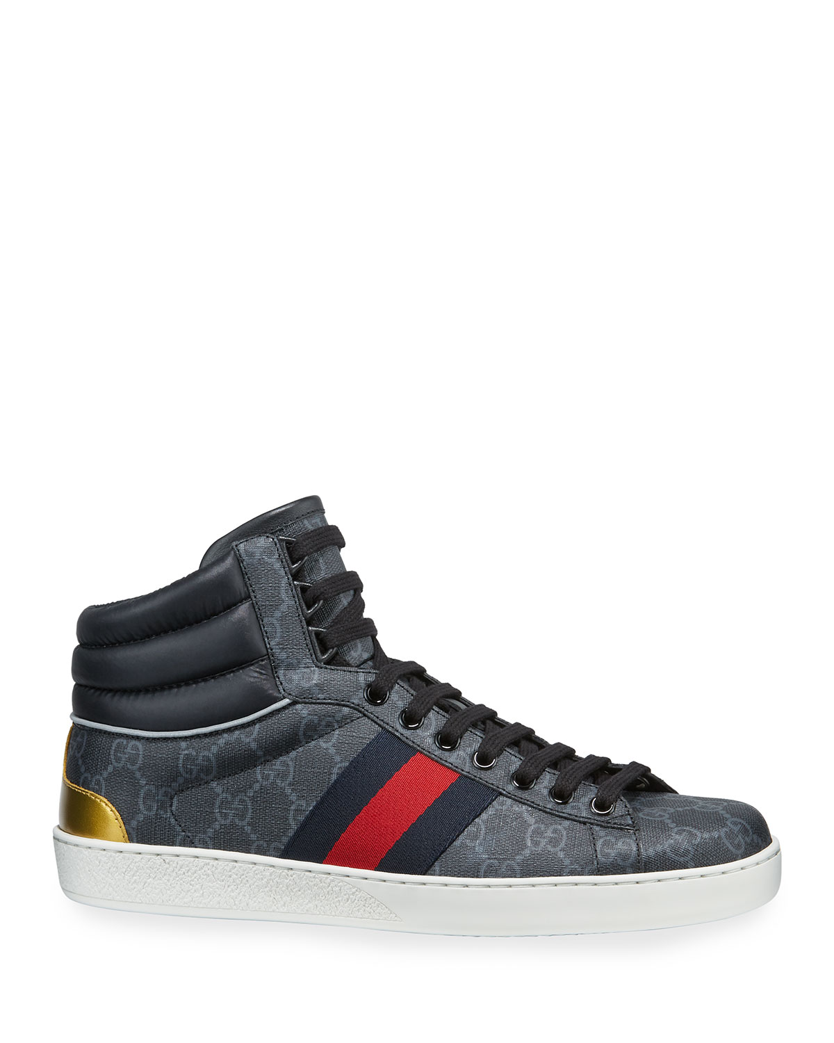 323104a59c4 Gucci Men s Ace GG Canvas High-Top Sneakers