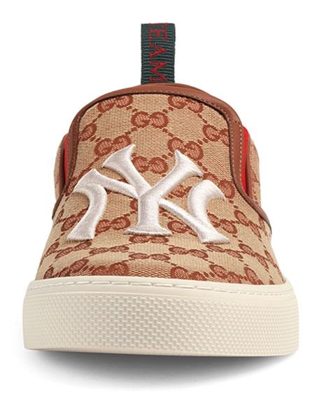 Gucci Men's GG Supreme Canvas Slip-On Sneakers