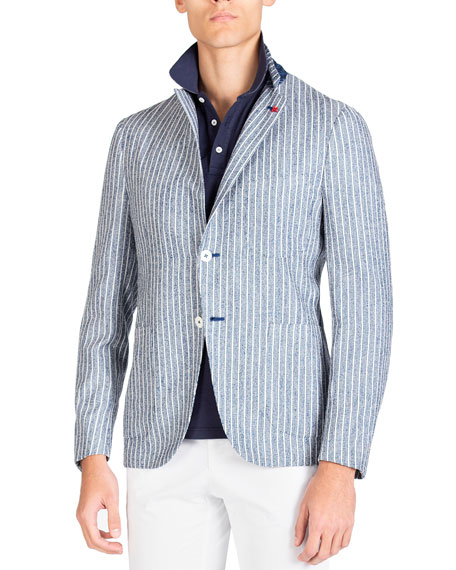 Isaia Men's Stripe Jacket