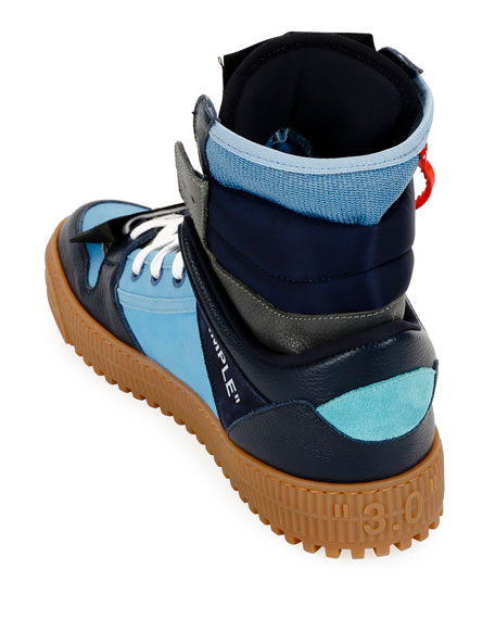 Off-White Men's Off Court Suede/Leather High-Top Sneakers