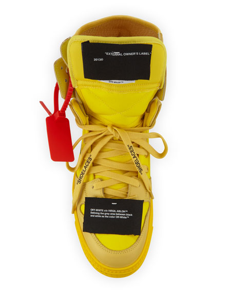Off-White Men's Off Court High-Top Leather Sneakers