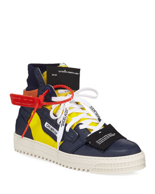 37717d25472 Off-White Men s 3.0 Exclusive Leather High-Top Sneakers