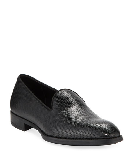 Giorgio Armani Men's Pebble Textured Formal Loafer