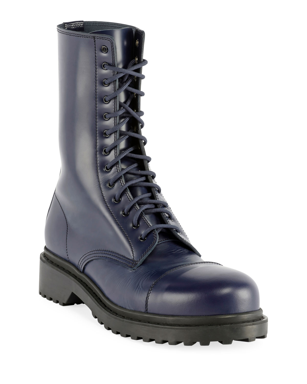 Men\u0027s Leather Combat Boots
