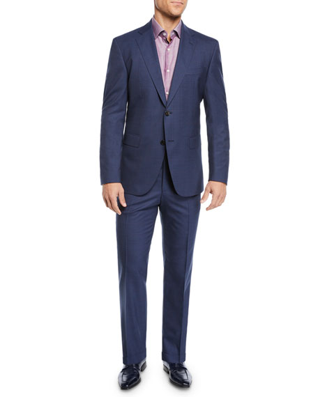 BOSS Men's Two-Piece Berry Window Suit