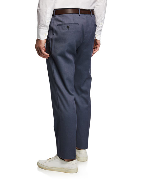 BOSS Men's Slim-Fit Micro-Pattern Pants