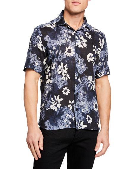 Culturata Men's Short-Sleeve Tropical Floral Shirt