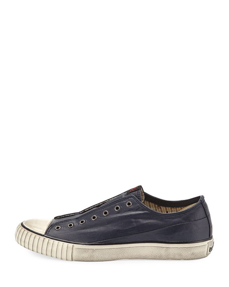 John Varvatos Men's Laceless Coated Canvas Low-Top Sneakers