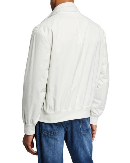 Brunello Cucinelli Men's Nylon Coat with Packaway Hood