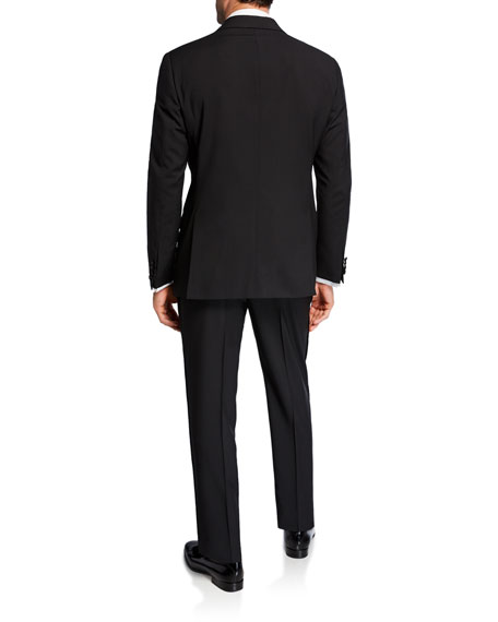 Image 3 of 4: Emporio Armani Men's Tonal Geometric Two-Piece Tuxedo Suit