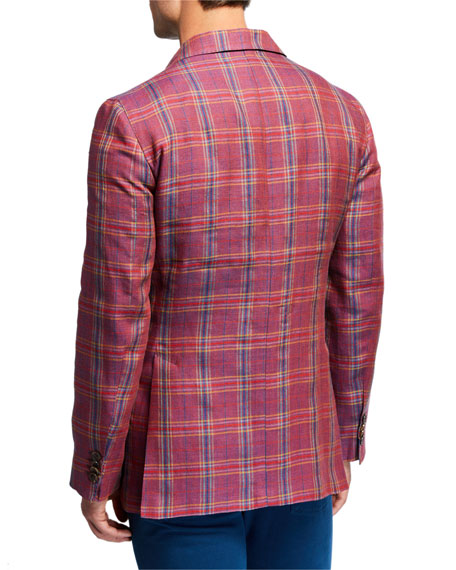 Etro Men's Plaid Linen/Wool Sport Jacket