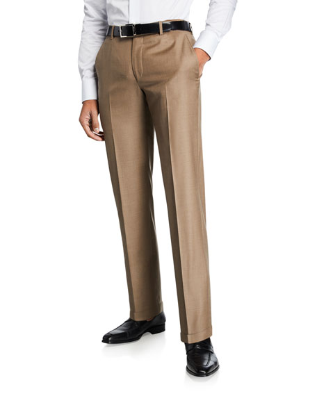 Hickey Freeman Men's Traveler 360 Solid Dress Pants