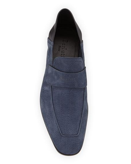 Berluti Men's Grained Nubuck Loafers