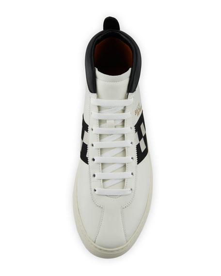Bally Men's Vita Parcours Retro Lamb Leather High-Top Sneakers