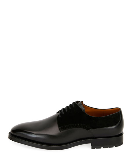 Bally Men's Badux Injected-Lace Leather Oxford Shoes