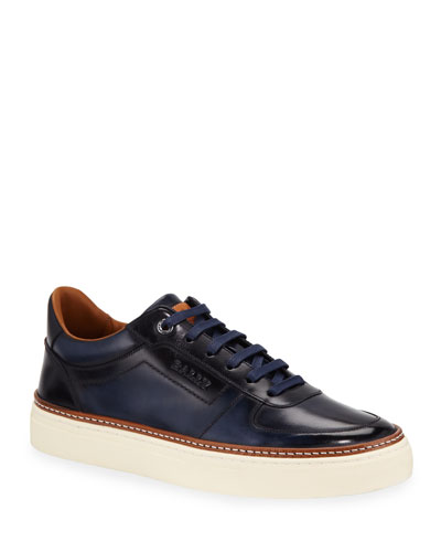 Men's Hens Burnished Leather Sneakers