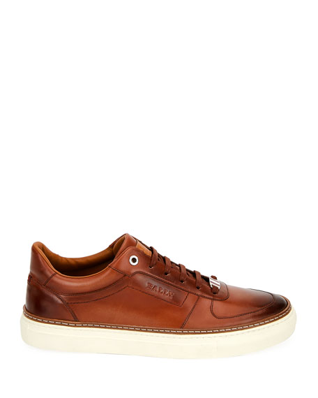 Bally Men's Hens Logo-Embossed Burnished Sneakers