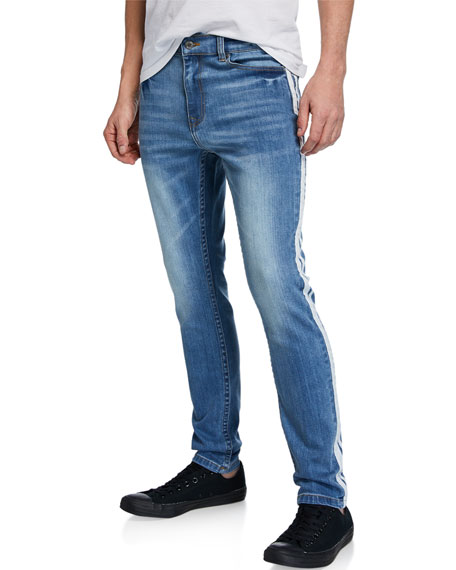 Ovadia & Sons Men's Side-Striped Slim Leg Jeans