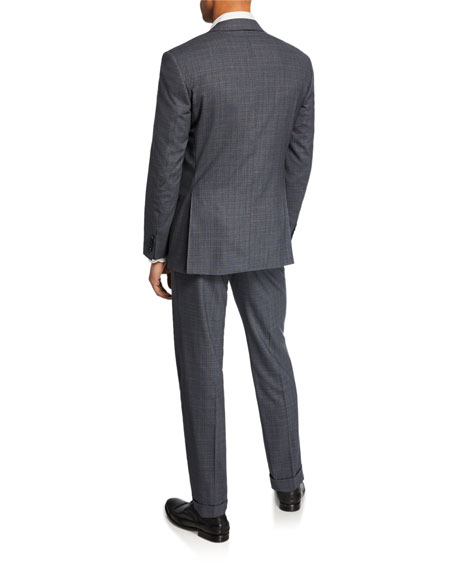 Canali Men's Impeccabile Striated Checked Two-Piece Suit