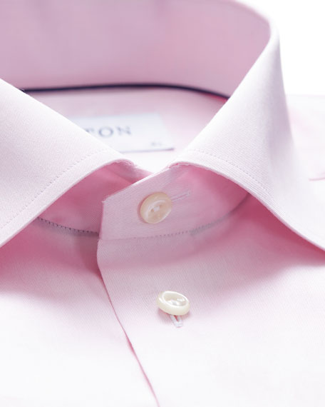 Image 2 of 3: Eton Men's Contemporary-Fit Twill Dress Shirt