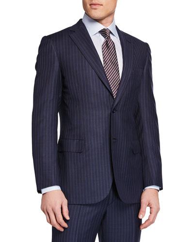 Men's Stripe Two-Piece Suit