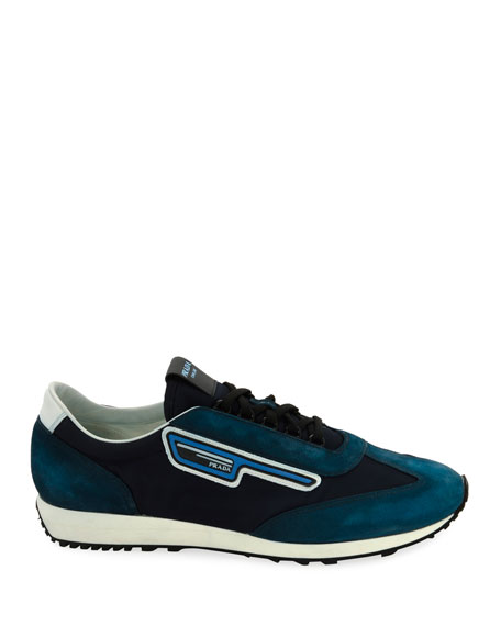Prada Men's   Suede Sport Sneakers