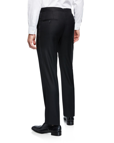 Hickey Freeman Men's Formal Tasmanian Solid Trousers