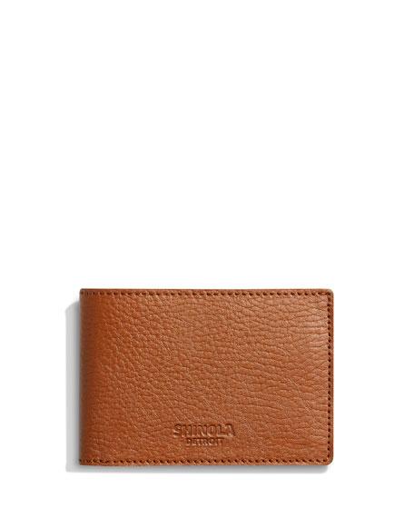 Shinola Wallets Men's Luxe Grain Leather Super-Slim Bifold Wallet