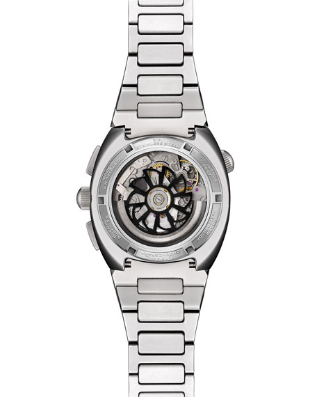 Tockr Watches Men's 45mm Air Defender Panda Stainless Steel Chronograph Watch with Bracelet