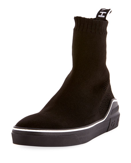 Givenchy Men's George V High-Top Sock Sneakers with