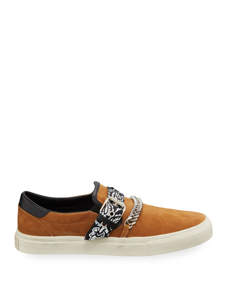 Amiri Men's Suede Slip-On Bandana Sneakers