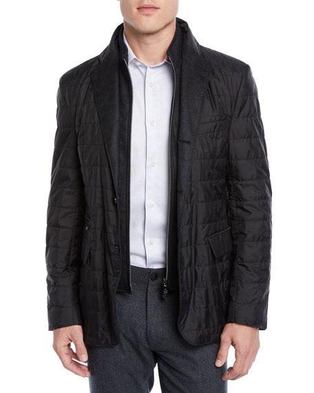 Corneliani Men's Quilted Wool Jacket