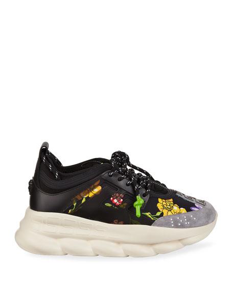 Versace Men's Chain Reaction Printed Sneakers