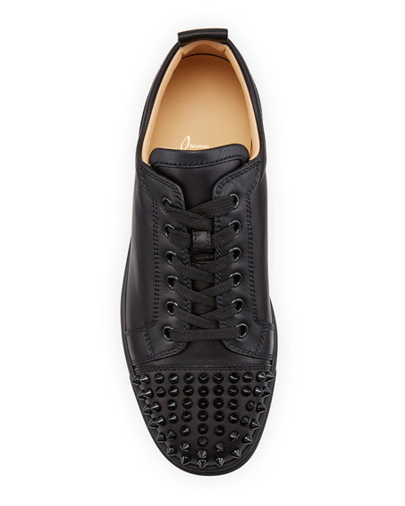 Image 2 of 5: Christian Louboutin Men's Louis Junior Spiked Low-Top Sneakers