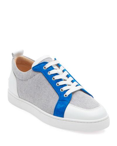 Men's Rantu Colorblock Leather Low-Top Sneakers
