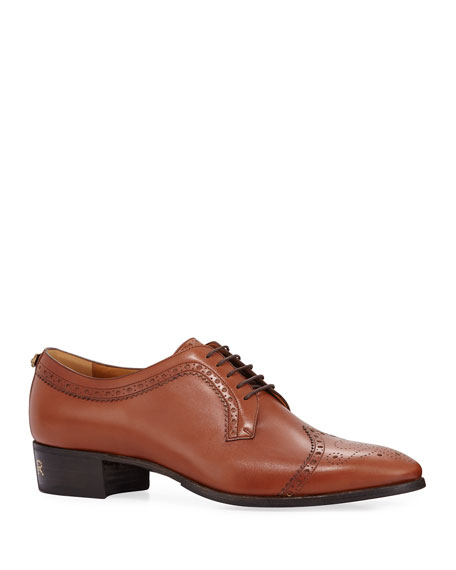Gucci Men's Thune Lace-Up Brogue Shoes