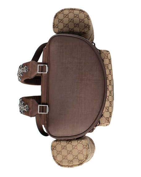 Image 4 of 4: Gucci Men's GG Canvas Flap-Top Backpack