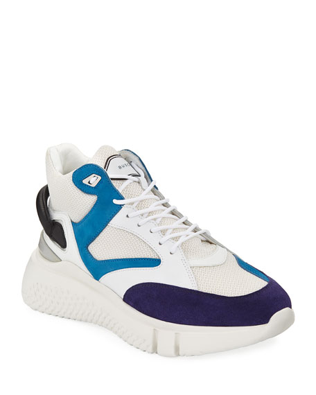 Buscemi Men's Veloce Leather Mid-Top Sneakers