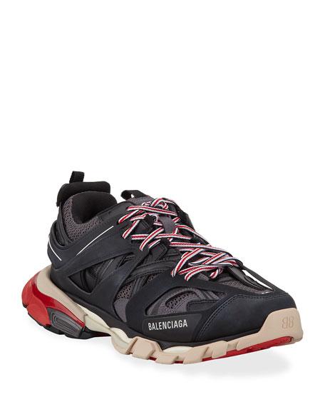 Balenciaga Men's Track Colorblock Sneakers