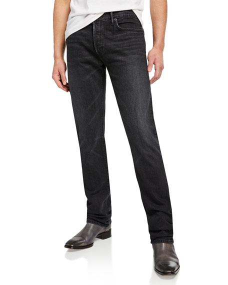 TOM FORD Men's Black-Wash Straight-Leg Jeans