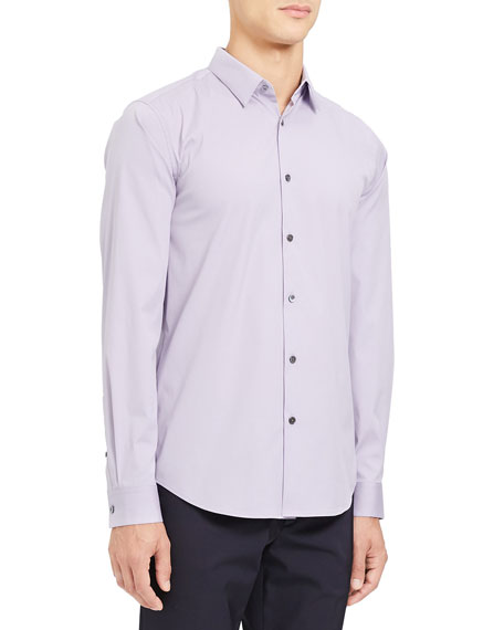 Theory Men's Sylvain Cotton Sport Shirt