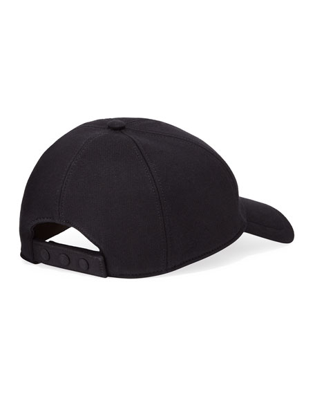 Burberry Men's TB Jersey Baseball Cap, Black