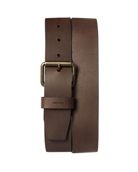 Shinola Men's Rambler Bridle AG Leather Belt