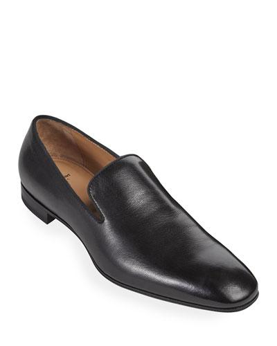 Men's Harrier Round-Toe Leather Formal Slippers