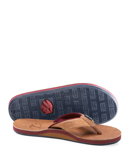 Image 4 of 4: Hari Mari x Nokona Men's Leather Thong Sandals