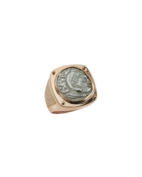 Jorge Adeler Men's Ancient Coin 18K Gold Ring
