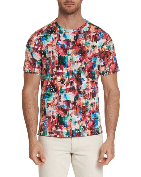 Robert Graham Men's Sparta Graphic Crewneck T-Shirt