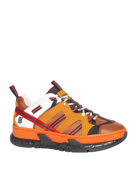 Burberry Men's Union Icon-Stripe Trainer Sneakers